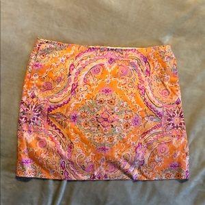 J. Crew floral skirt